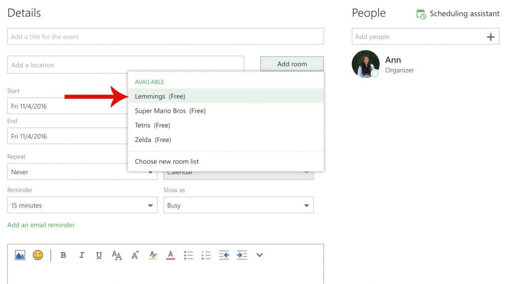 How To Use Outlook Room Lists Meetio