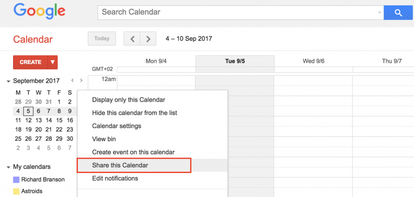 Share Calendar Outside Organization : Share resource calendar with external users in g suite