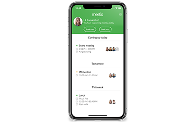 Meetio App on iPhone X