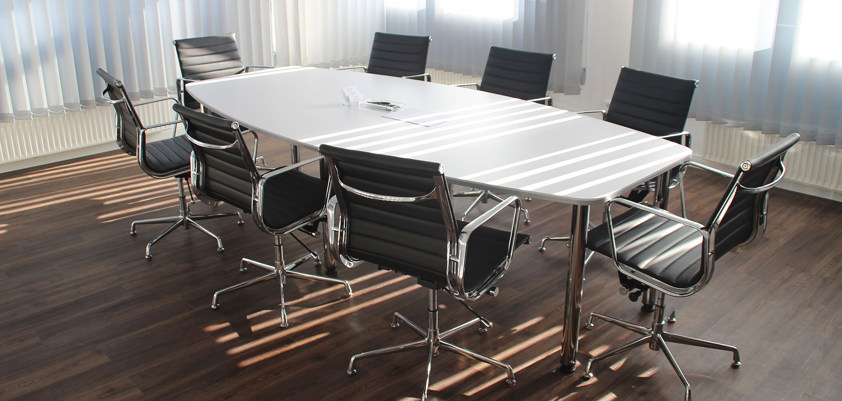 Typical conference room with 8 chairs