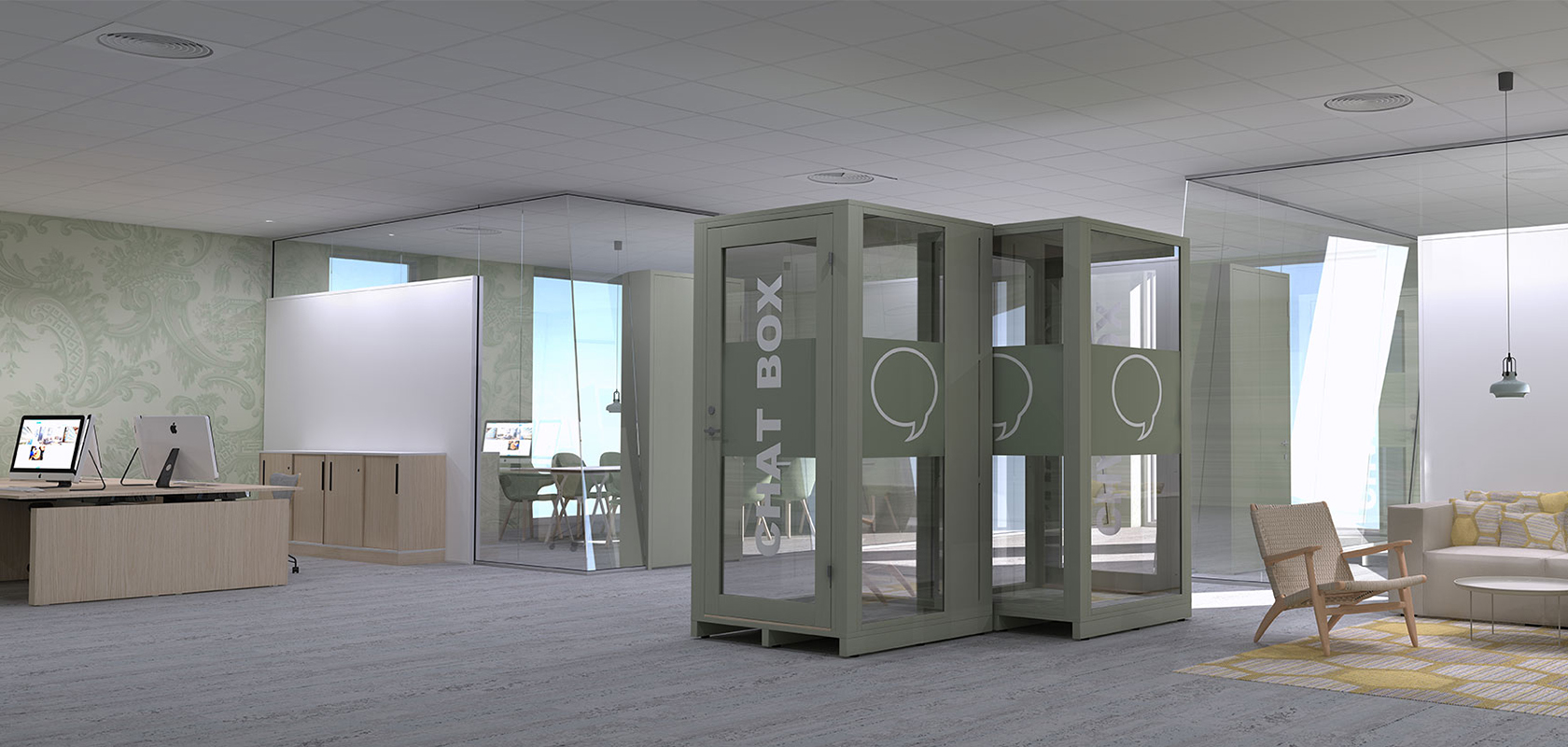 Phone booths eller chat boxes